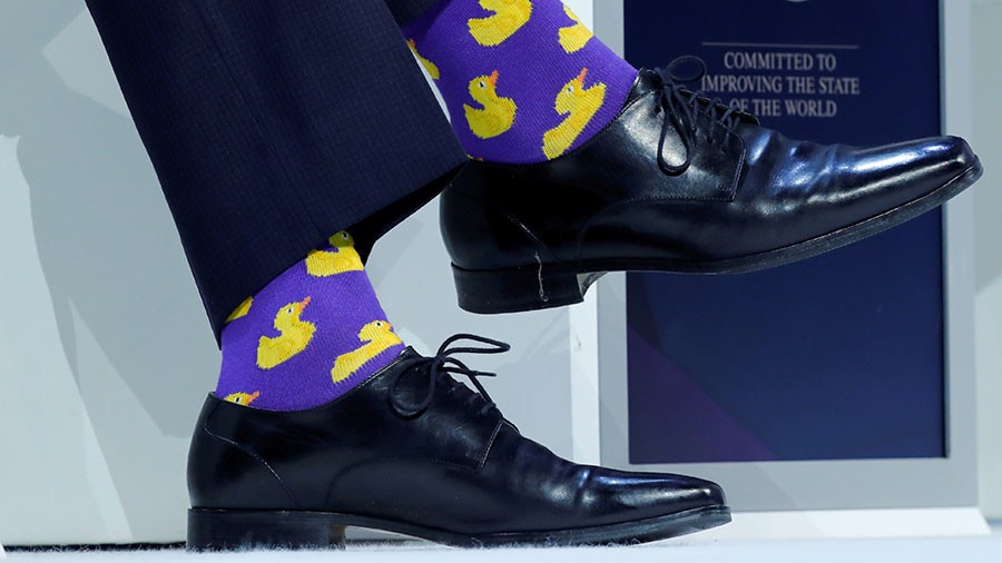Canadian Prime Minister's Justin Trudeau's socks © Denis Balibouse : Reuters