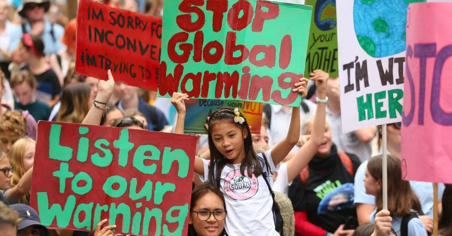 Climate Change Awareness rally at Sydney Town Hall on March 15, 2019 in Sydney, Australia. The protests are part of a global climate strike, urging politicians to take urgent action on climate change. (Photo by Don Arnold:Getty Images)