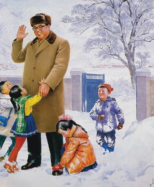 Kim's grandfather, Kim Il-sung, shown in a North Korean propaganda magazine. -Korea Today-1981