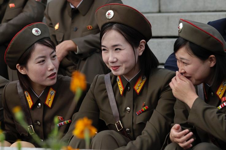 North Korean Army Women