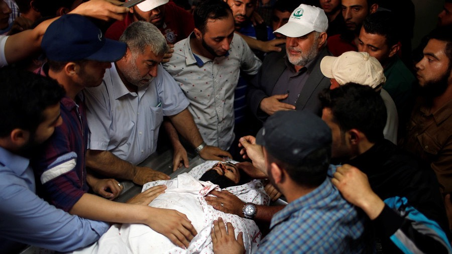 Palestinian Ahmed al-Rantisi, who was killed during a protest at the Israel-Gaza border. -Mohammed Salem : Reuters