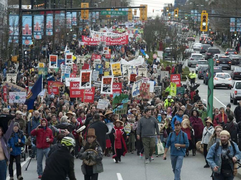 Thousands march through Vancouver to protest Kinder Morgan ... vancouversun.com
